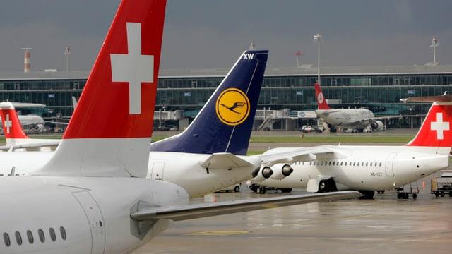 Aviuns da la Swiss ed in da la Lufthansa