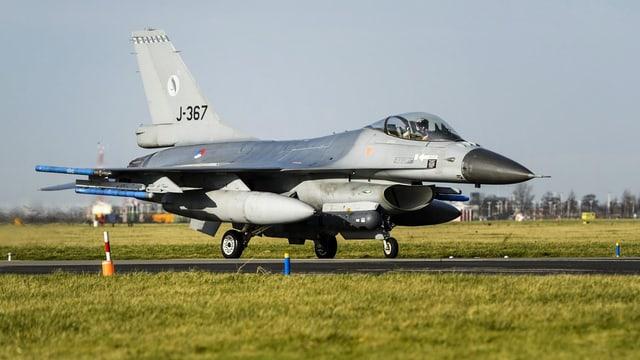 F-16-Kampfjet der niederländischen Luftwaffe.