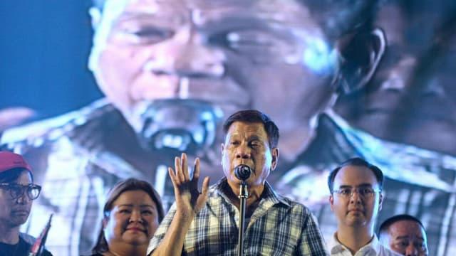 Duterte bei einer Rede