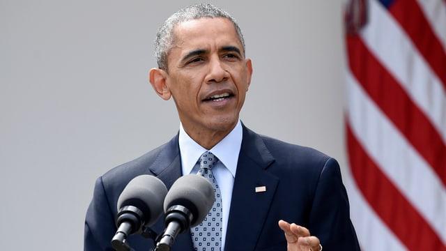 Barack Obama durant in pled.