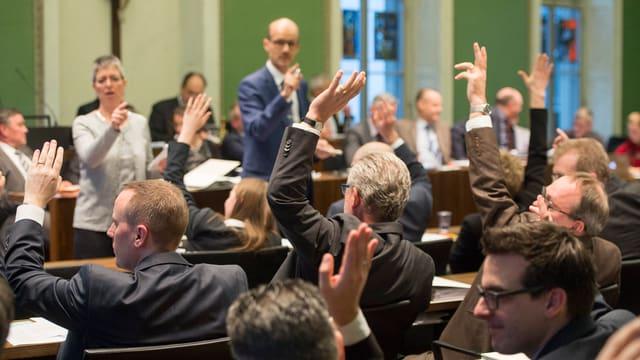 Blick ins Zuger Kantonsparlament