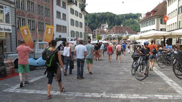 Der Mühleplatz in der Luzerner Altstadt.