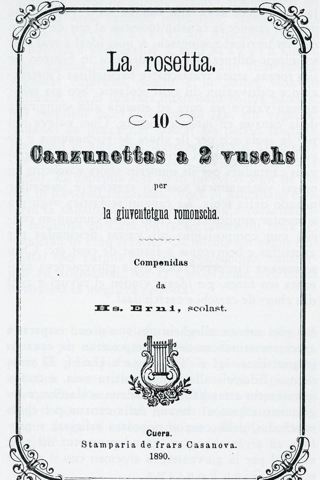 La rosetta - Frontispizi da l'emprima ediziun 1890