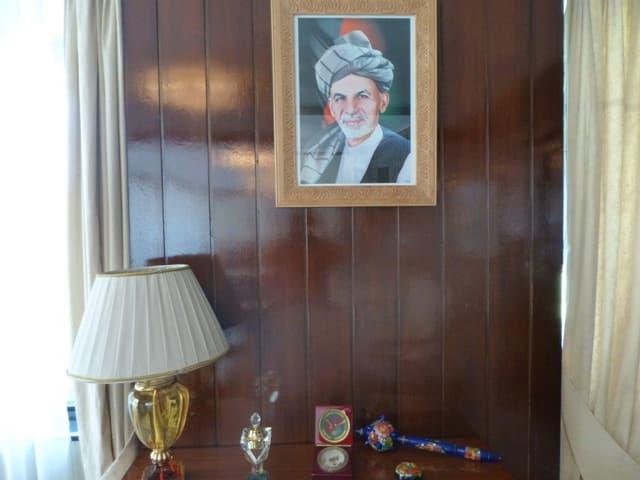Ashraf Ghani, der Mann von Rula und aktueller Präsident von Afghanistan, in einem Portrait.