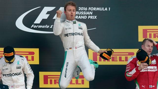 Nico Rosberg fa in sigl sin il podest (Grond premi da la Russia a Sotschi)