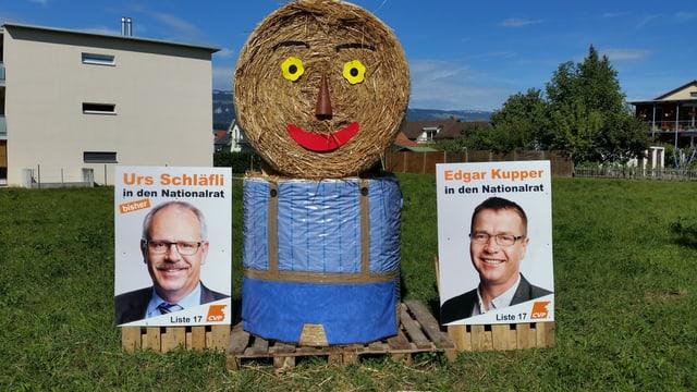 Wahlwerbung für Nationalratskandidaten Urs Schläfli und Edgar Kupper