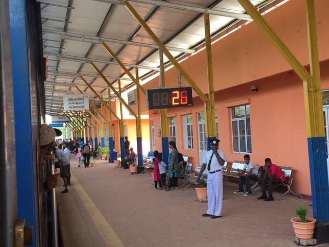 Bahnsteig in Colombo