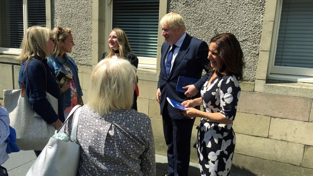 Boris Johnson und Familie.
