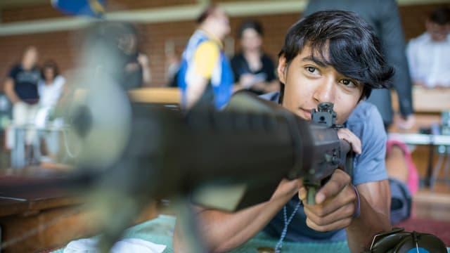 Der 14jährige Schützenkönig Niel Geiger kommt aus Zürich.