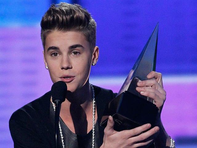 Justin Bieber mit Preis