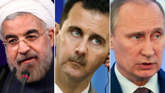 Ruhani, Assad, Putin.