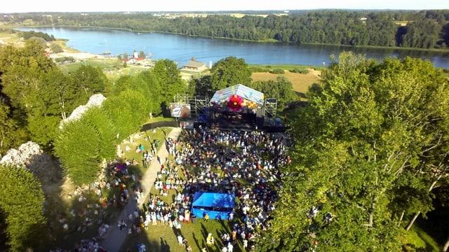 In festival cun blera atmosfera.