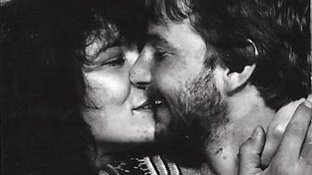 Manuela und Roger 1979 in einem Passfotoautomaten in Zürich.