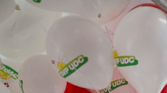 Werbeballone der SVP