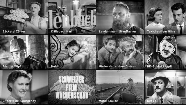 Schweizer Filmwochenschau Collage