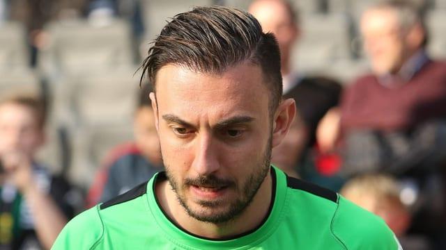 Josip Drmic mit angespanntem Gesichtsausdruck
