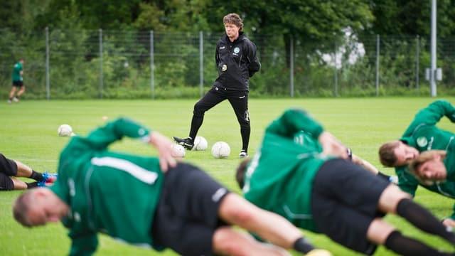 FC St. Gallen beim Training