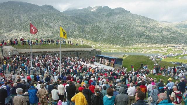 Video «Gottesdienst zum Nationalfeiertag auf dem Gotthardpass» abspielen