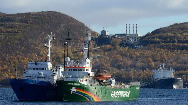 Das Greenpeace-Schiff Arctic Sunrise.