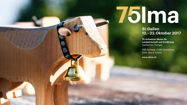 Holzkuh auf Plakat der 75. Olma