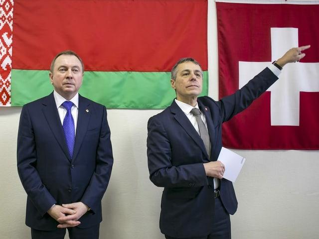 Vladimir Lakei und Ignazio Cassis