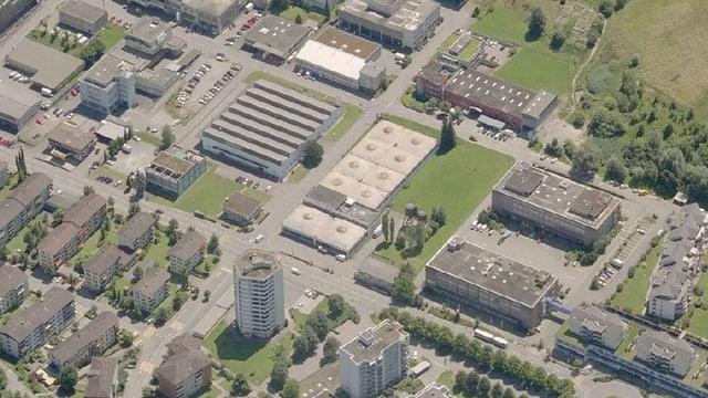Luftbild von Littau