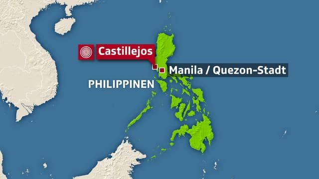 Karte Philippinen.Stärke Bis 6 5 Neues Erdbeben Erschüttert Philippinen News Srf