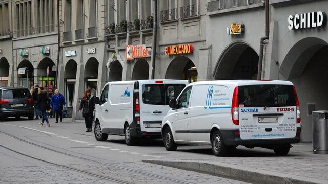 Lieferwagen in der Berner Innenstadt