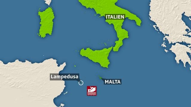 Karte Süditalien