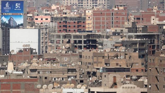 Wohnhäuser in Kairo.
