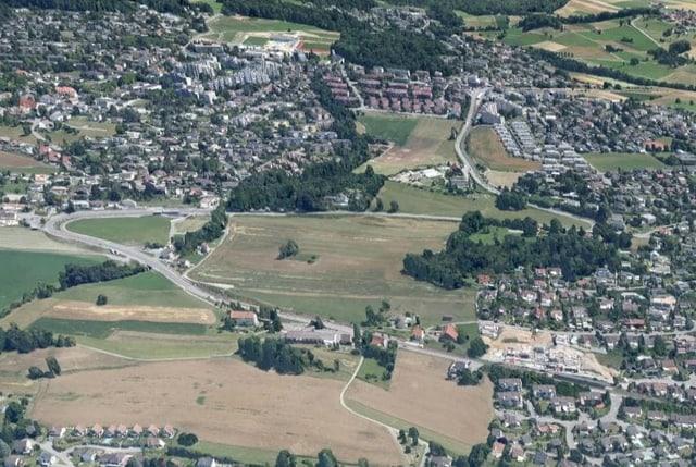 Luftaufnahme des Mutschellen.