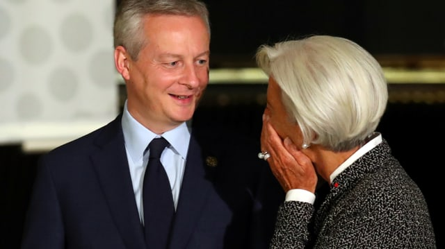 Le Maire neben Lagarde