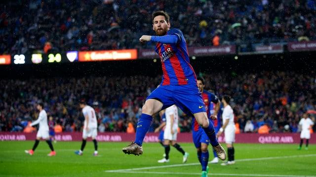 Lionel Messi trifft gegen Sevilla öfter.