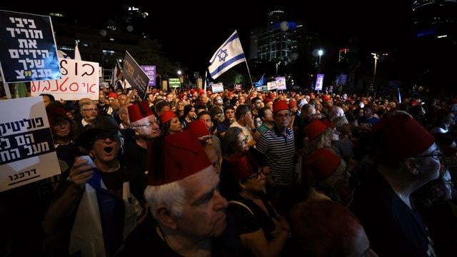 Proteste in Tel Aviv.