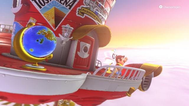 Odyssee nennt Mario sein fliegendes zu Hause.