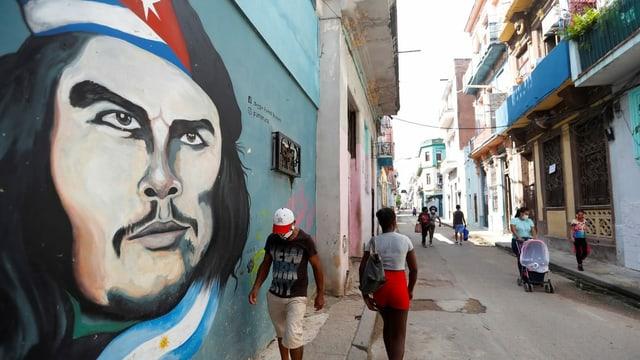 Strassenszene in Havanna.