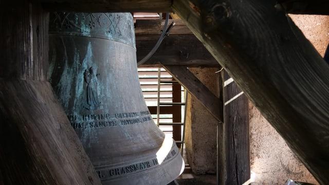 Glocke in der Kirche von Brienz.