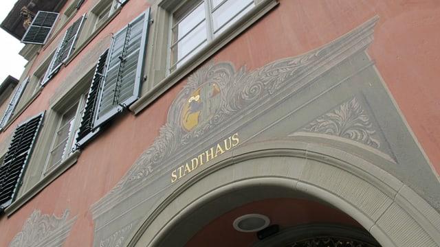 Eingang des Schaffhauser Stadthauses.