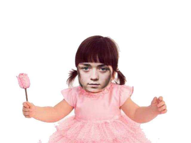 Arya Stark, eine der zentralen Figuren bei «Game of Thrones», als Baby