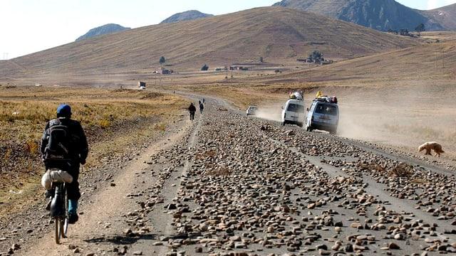 Eine Strasse in Bolivien.
