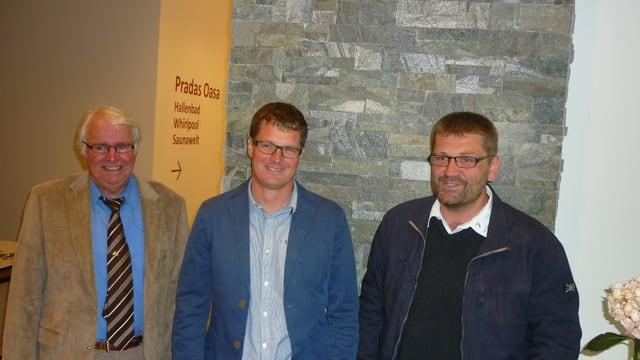 Suprastanza pendicularas Surselva: Josef Brunner, Rudolf Büchi, Martin Hug (da sen.)