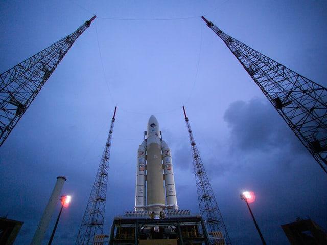 Ariane-Rakete auf Startrampe