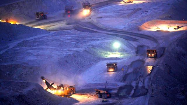 Die Kupfer-und Goldmine in Calama in Chile.