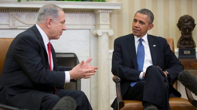 Der amerikanische Präsident Obama und der israelische Premier Netanjahu