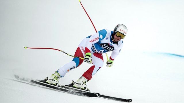 Il skiunz Beat Feuz durant il trenament al Lauberhorn, Wengen