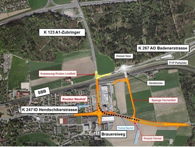 Plan der Baustelle