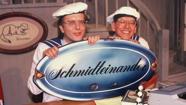 Harald Schmidt und Herbert Feuerstein.