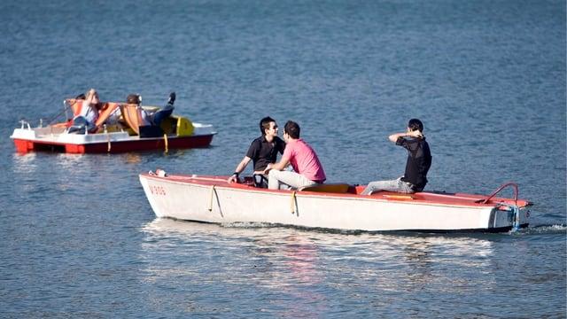 Ausflugsboote auf dem Bodensee