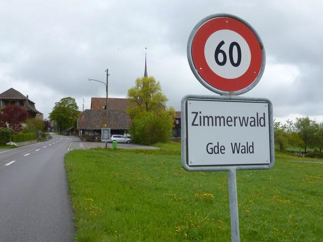 Das Dorf Zimmerwald am Längenberg in der Nähe von Bern: Mit Lenins Geheimtreffen im Herbst 1915 hat die Gemeinde nicht viel am Hut.