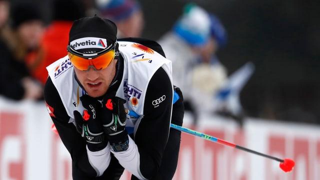 Dario Cologna wird zum Abschluss in Quebec Fünfter.